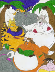 Fat fur bikini contest by Robot001