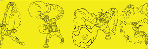 Nintendo Arms Logo Swapped With Characters by Casperwood