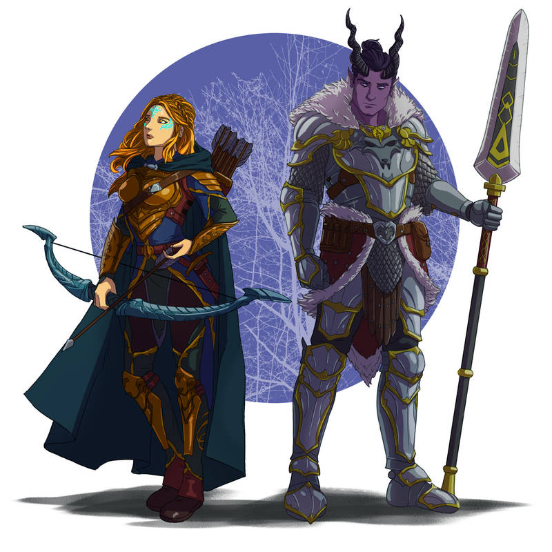 Therai and Haniel by wildcard24