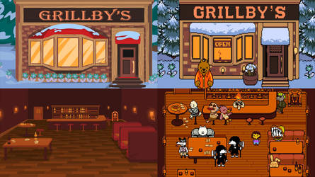 Grillby's Background Development by CrownePrince