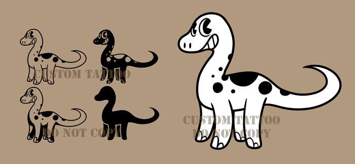 Brontosaurus Tattoo by CrownePrince