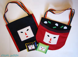 Katamari Bags and Pouches by shiroiyukiko