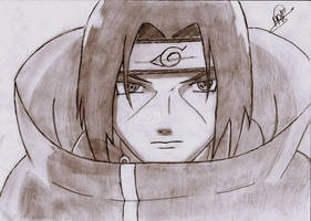 itachi's face by badwich