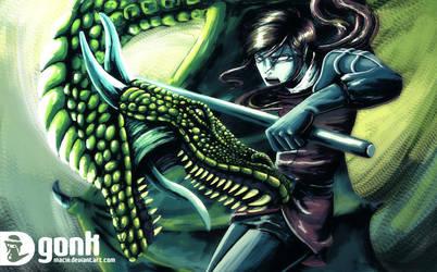 green dragon by maciii