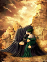Roghaye and Zainab in ruin of Sham by miladps3