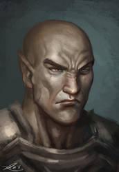 Old Bald Elf by Whiteghul