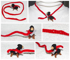 The Crocheted: Ninja Llama Necklace by janey-in-a-bottle