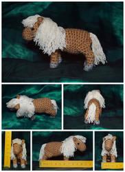 The Crocheted: Shetland Pony by janey-in-a-bottle