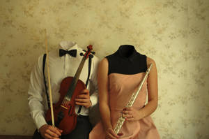 portrait of two musicians by Yvonnne92