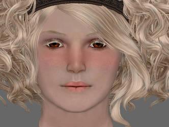 TES 4 Oblivion - FF head texture WIP by chakaru