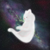 Galaxy Cat by lefaul