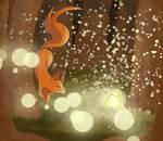 Jar of Fireflies by lefaul