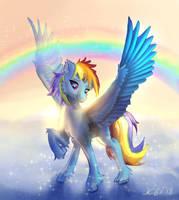 Rainbow Dash with rainbow by xbi