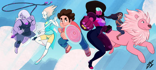 Steven Universe gang by Keino-Evans