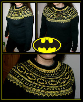 Batman fair-isle sweater by KnitLizzy