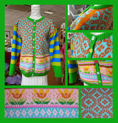 Malou fair-isle cardigan by KnitLizzy