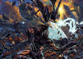 X-Men Splash Page Color by fernandocarvalho