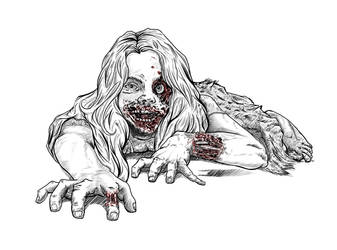 Zombie Daughter by CB-ComicArt