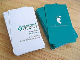 Barefoot Business Cards by umert