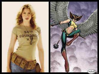 JLA Castings - Hawkgirl by Doc0316