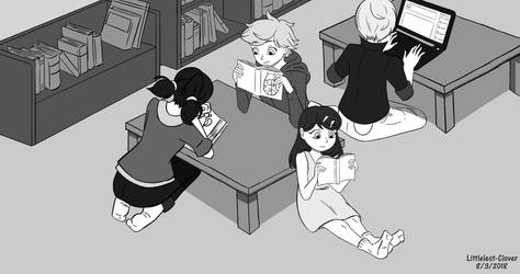 People Reading by littlest-clover