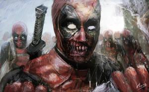Deadpool zombies ( fan art ) by musane