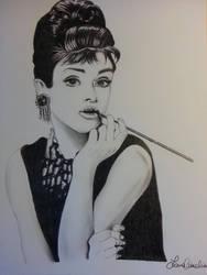 Audrey Hepburn Beakfast at Tiffany's by Laura80slover