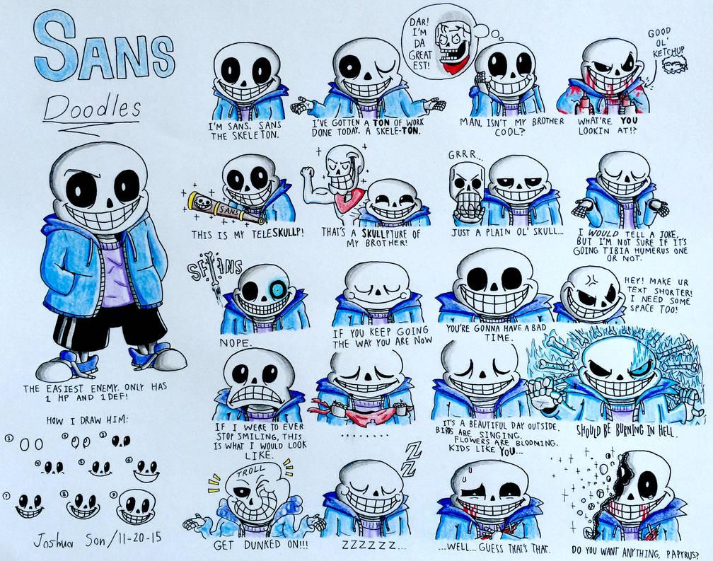 Sans Doodles by Josh-S26