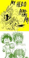 Boku no Hero Academia - Sketchdump by Josh-S26