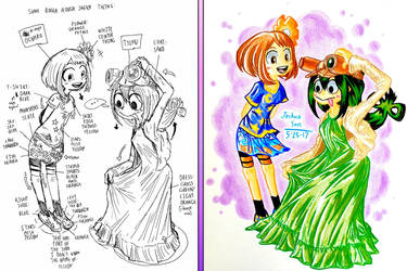 .:Boku no Hero Academia:. Cute Outfits by Josh-S26