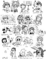 So I had my teacher guess the quirks of Class 1-A by Josh-S26