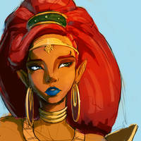 Urbosa Sketch by Ev-01