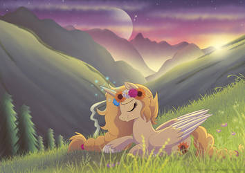 [Commission] Peaceful Twilight by LittleHybridShila