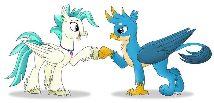 [Commission] Birdie brofist by LittleHybridShila