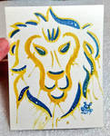 Alliance Lion Watercolor by nighte-studios