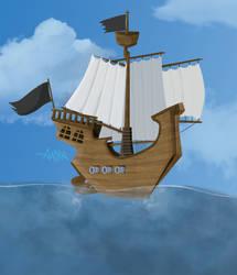 Aaska Pirate Dessin-croquis-illustration-bateau-00 by AASKA-CREA