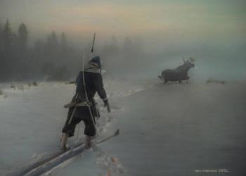 Elk hunt by EgilSterkr
