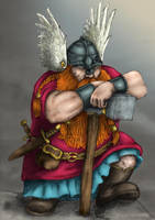 Dwarf and the hammer color by EgilSterkr