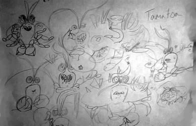 tamatoa doodles by ShinningArceus