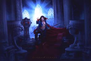 Bloody rose by LINGDUMSTUDOG