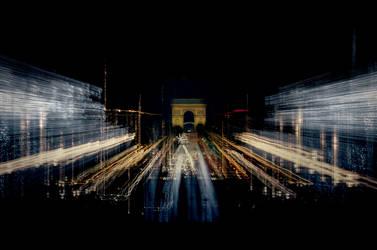 Santa Claus arrives in Paris by leglaunecmichel