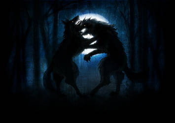 Werewolves in the moonlight by Vilka6