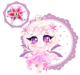 Pink Lily Fairy {CLOSED} by OKtiger