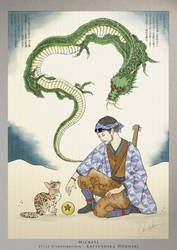 Mickael - Inspiration : Katsushika Hokusai by TheSqu