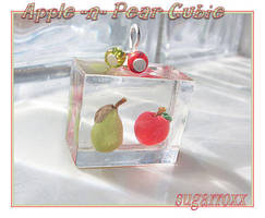 Apple and Pear cubie by SugarRoxx