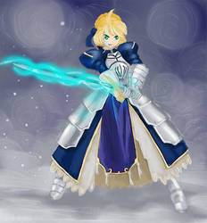 Saber from Fate/Stay Night by STsung