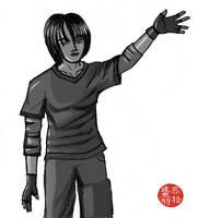 Manga sketch bw by STsung
