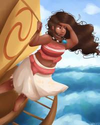 Moana, Ocean Chief by Sangled