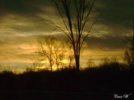 Winter Sunset 1 by blackpenguin466