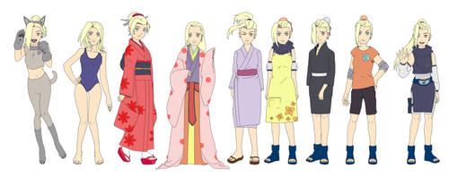 Ino Yamanaka Outfit Color NARUTO by SunakiSabakuno